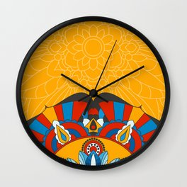 The secret of the mandala Wall Clock