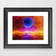 Sea Moon Framed Art Print