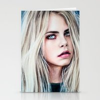 cara Stationery Cards featuring CARA by Laura Catrinella