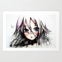 vocaloid Art Prints featuring A Vocaloid - IA by KhalilKhalidy
