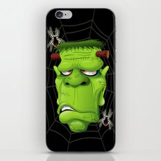 Frankenstein Ugly Portrait and Spiders iPhone Skin