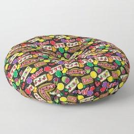 Casino Pattern of Jackpot Fruit Slot Machines Floor Pillow