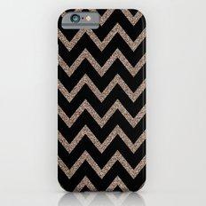Black and Gold Glitter Chevron Slim Case iPhone 6