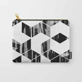Elegant Black and White Geometric Design Carry-All Pouch