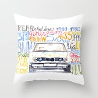 bmw Throw Pillows featuring BMW e36 by dareba