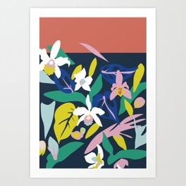 Orchid Jungle Art Print