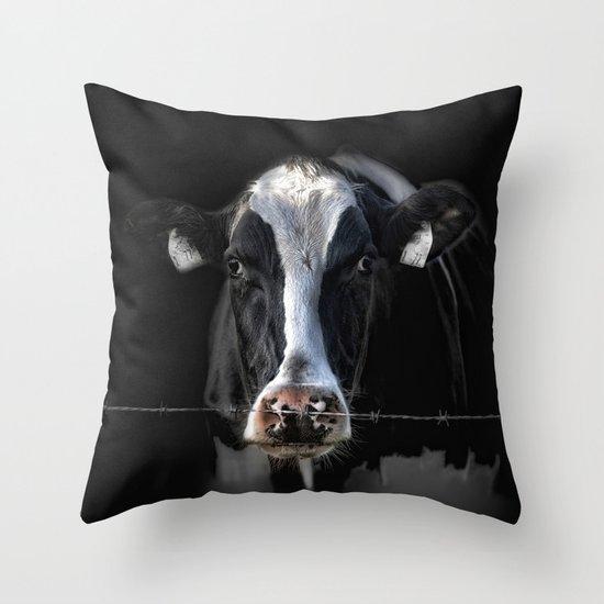 sad Lisa Throw Pillow