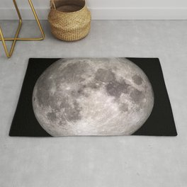 Surface of the Moon - Lunar Landscape Rug