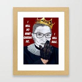Queen RBG Framed Art Print