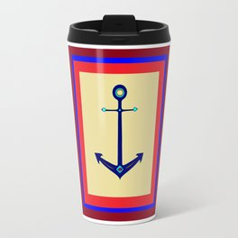 A Nautical Anchor with Boarder Travel Mug
