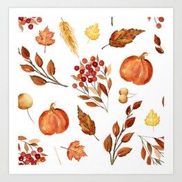 Wheat and Berries Art Print