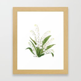 white lily of valley Framed Art Print