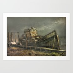 The Wreck of The Good Hope Art Print