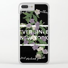 Harry Styles Ever Since New York Artwork Clear iPhone Case