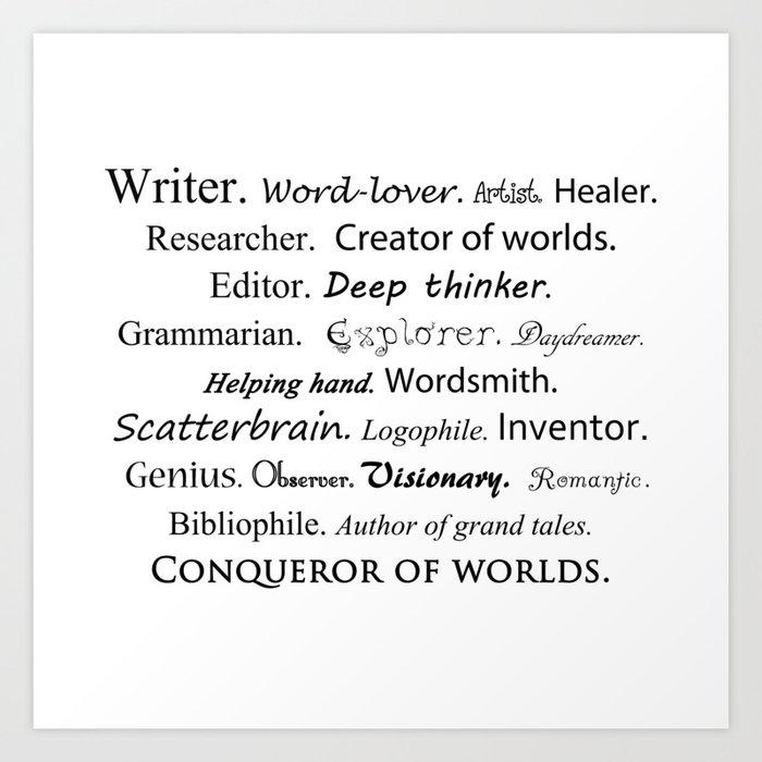 Writer Kunstdrucke