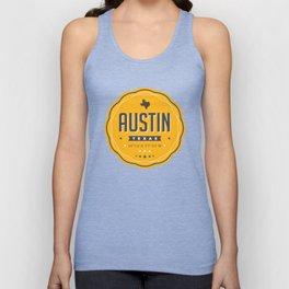 Austin Texas City Badge Unisex Tank Top