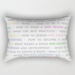 Colored Web Design Keywords Poster Concept Rectangular Pillow