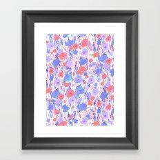 Flower Field Apricot Lilac Framed Art Print