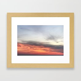 Setting Sky Framed Art Print
