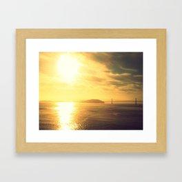 Sunrise Bay Bridge Framed Art Print