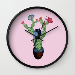 My prickly cactus safe house Wall Clock