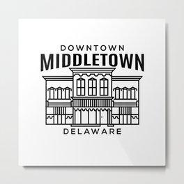 Downtown Middletown DE Metal Print