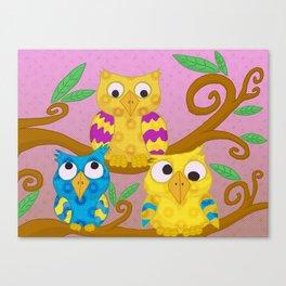 Owl Children Canvas Print