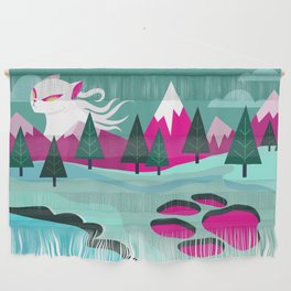 Monster Cat in the Mountains Wall Hanging