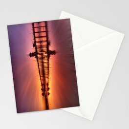 Sunset In Motion Huntington Beach Pier * Photo: Steve Berger Stationery Cards