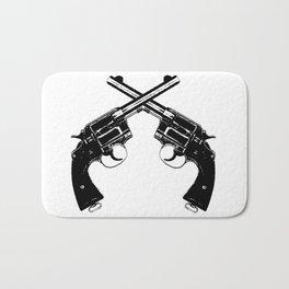 Crossed Revolvers Bath Mat
