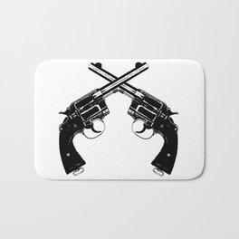 Crossed Revolvers Bath Mat