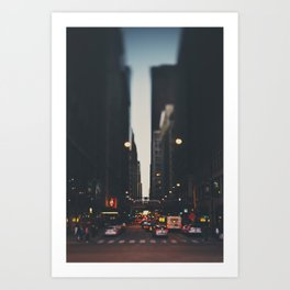 sunset in the city ... Art Print