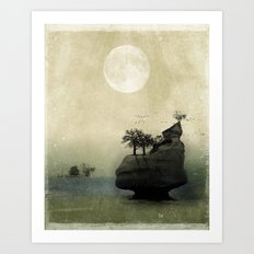 Far Away Fantasy Landscape Art Print