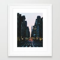 broadway Framed Art Prints featuring Broadway by cascam