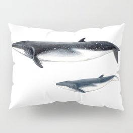 Bryde´s whale and baby whale Pillow Sham