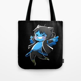 Chibi Luc (Expression 2) w/ Black Background Tote Bag