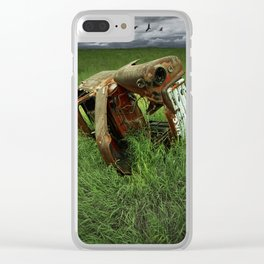 Steel Auto Body Carcass Clear iPhone Case