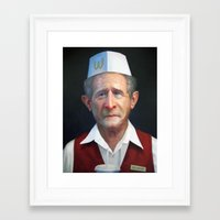 fries Framed Art Prints featuring Freedom Fries by Jaime Margary