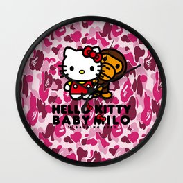 Helo kitty Milo Rose Wall Clock