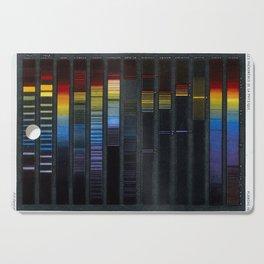 """Spectra of various substances, from """"Les phénomènes de la physique"""" (1868) Cutting Board"""