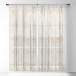 Circular Minimalism - Soft Yellow Sheer Curtain