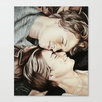 the fault in our stars Canvas Prints featuring The Fault in Our Stars by Francesca Cosentino