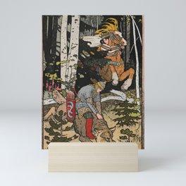 Catching The Grey Wolf By Ivan Biblin Mini Art Print