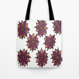 Holiday Two-Toned Flowers Tote Bag