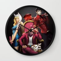 gumball Wall Clocks featuring House Gumball by Meder Taab