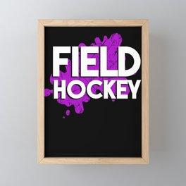 Field Hockey Pop-Art Text Art Framed Mini Art Print