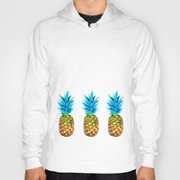 pineapples Hoodies featuring Many pineapples by Yilan