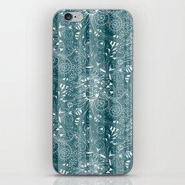 Zenny Stripe, Blue Spruce iPhone Skin