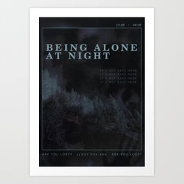 Poster design: Night Art Print