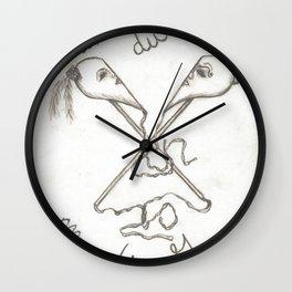 Mardi Gras Masks Wall Clock